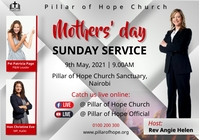 Mother's day service A1 template