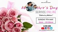 Mother's day service Affichage numérique (16:9) template