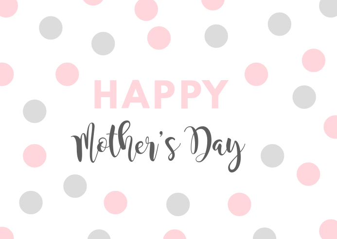 Mother's day simple flyer template