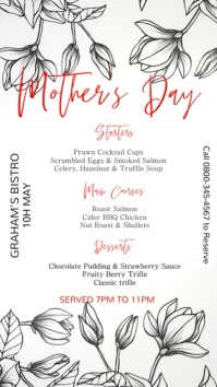 Mother's Day Special Digital Menu Template