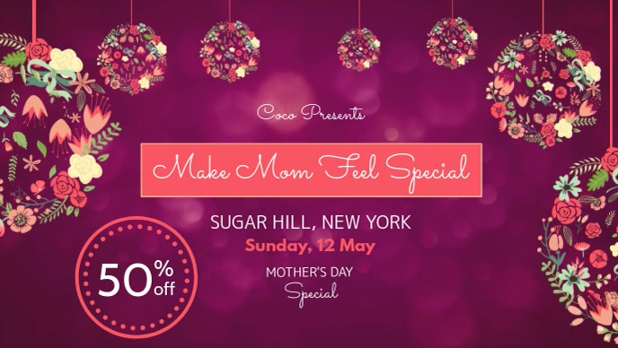 Mother's Day Special Discount Facebook Cover Video