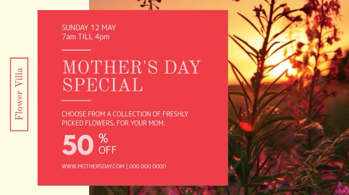 Mother's Day Special Offer Digital Display Video Digitale Vertoning (16:9) template