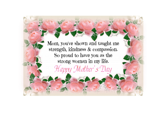 Mother's Day Spring Post Card Postal template