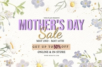 MOTHER'S DAY STORE SALE Event Flyer Template 横幅 4' × 6'