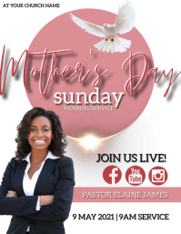 MOTHER'S DAY Sunday Church Event Template Flyer (format US Letter)