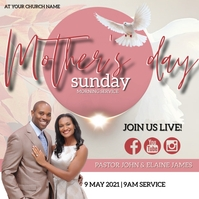 MOTHER'S DAY Sunday Church Event Template Carré (1:1)