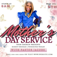 MOTHER'S DAY Sunday Church Event Template Square (1:1)