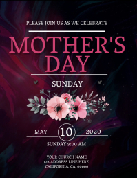 Mother's Day Sunday Event Flyer Template