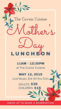 Mother's Day Tea and Lunch Invitation Instagram Story template
