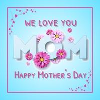 Mother's day template Instagram-bericht