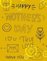 Mother's Day Template 传单(美国信函)