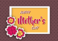 Mother's day template Postal