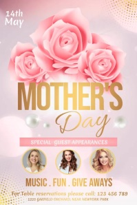 mother's day video, mother's day Plakkaat template
