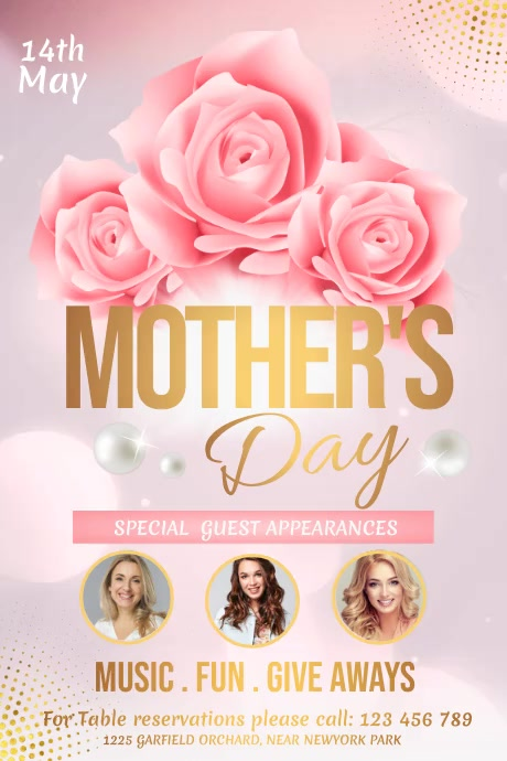 mother's day video, mother's day Poster template