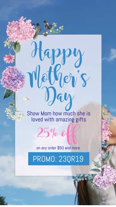 Mother's Day Video Digitalt display (9:16) template