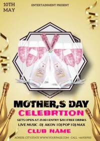 MOTHER,S DAY CELEBRATION A4 template