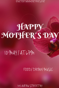 Mother`s Day flyer template