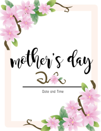 Mother's Day Card Flyer (US Letter) template