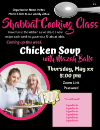 Mother Daughter Shabbat Cooking Class Volantino (US Letter) template