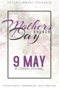 Mother Day Brunch Event flyer template
