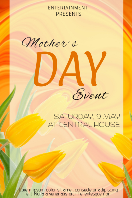 mother day brunch event flyer template postermywall