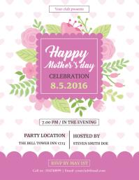 Mother Day Celebration Flyer template