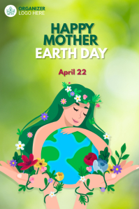 Mother Earth Day Template Transparent 4 stopy × 6 stóp