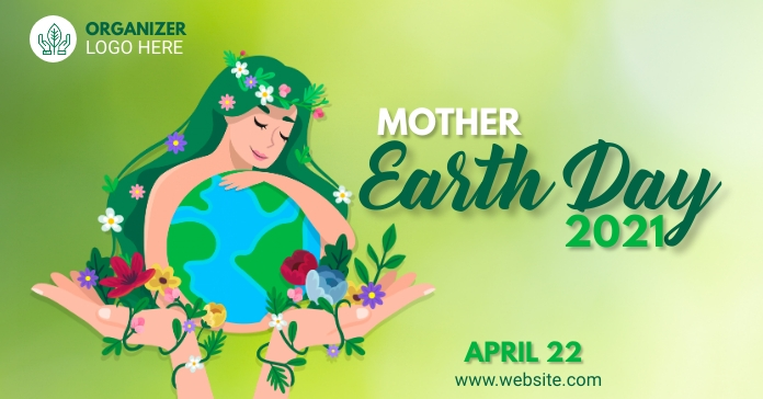 Mother Earth Day Template Anúncio do Facebook