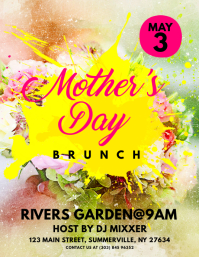 Mother's Day Brunch Flyer