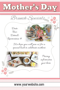 Mother's Day Brunch Restaurant Advertisement Flyer Poster