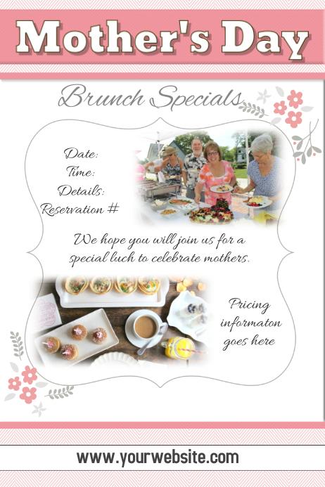 Mother's Day Brunch Restaurant Advertisement Flyer Poster