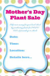Mother's Day Fundraiser Invitation Template Poster Event