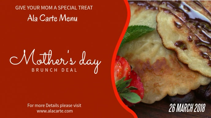 Mother's Day Lunch Deal Video Template Tampilan Digital (16:9)