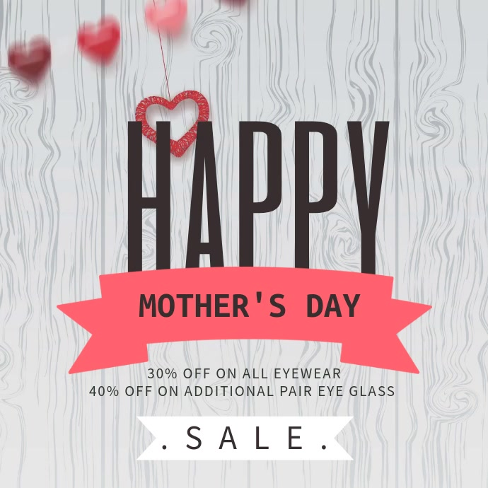 Mother's Day Sale Promo Video Template Cuadrado (1:1)