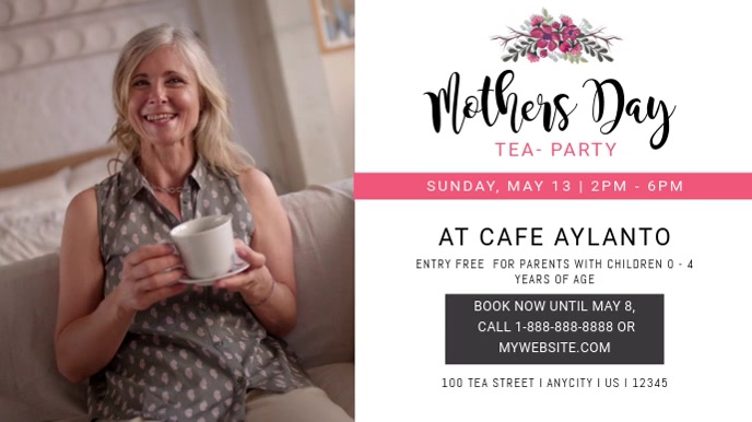 Mother's Day Tea Gathering Video Template