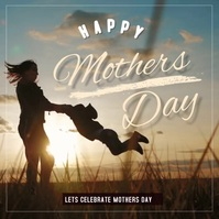mothers day, mom and me Cuadrado (1:1) template