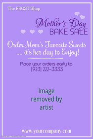 Mothers Day Bake Sale Poster