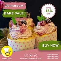 Mothers Day Bakery Sale Flyer Ad Wpis na Instagrama template