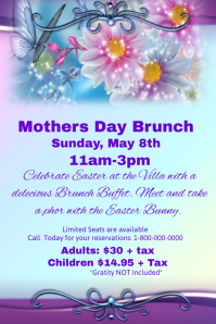 Mothers day Brunch Event template