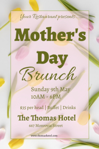 mothers day brunch flyer Poster template