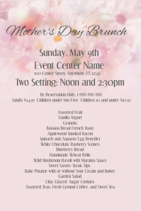 Mothers Day Brunch Flyer