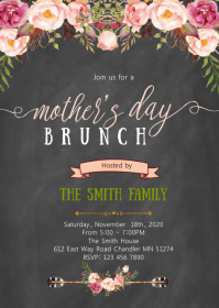 Mothers day brunch party invitation