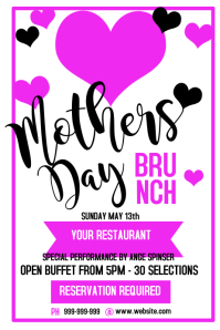 Mothers Day Brunch Poster Flyer