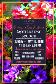 Mothers Day Brunch Poster Template