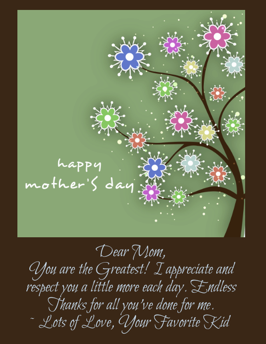 Copy of Mothers Day Card | PosterMyWall
