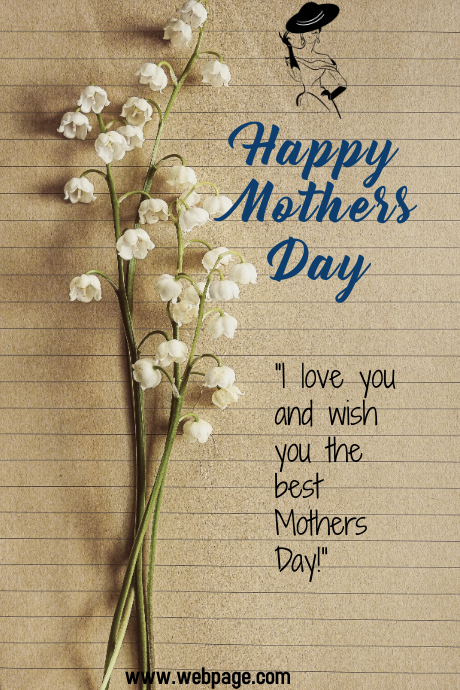 MOTHERS DAY CARD TEMPLATE Illustration Tumblr