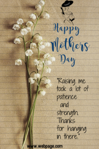 MOTHERS DAY CARD TEMPLATE Grafica Tumblr