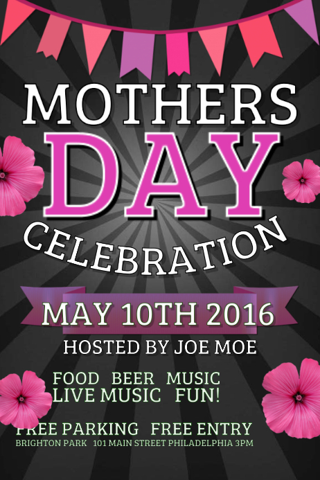 Mothers Day Dinner Invitation Template Free