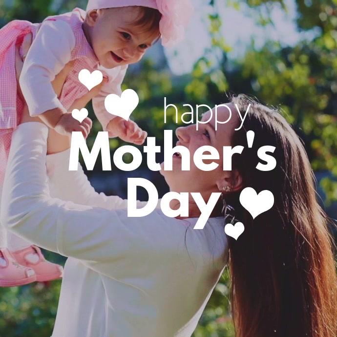 Mothers day Kvadrat (1:1) template