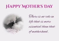Mothers day Postal template